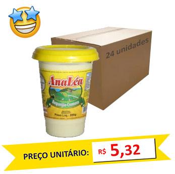 Requeijão Tradicional Ana Léa 200g (Caixa c/ 24)