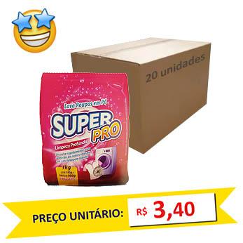 Sabão em Pó SuperPro 1kg (Caixa c/ 20)