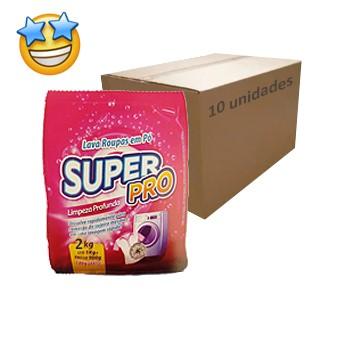 Sabão em Pó SuperPro 2kg (Caixa c/ 10)  - Grupo Borges Atacadista