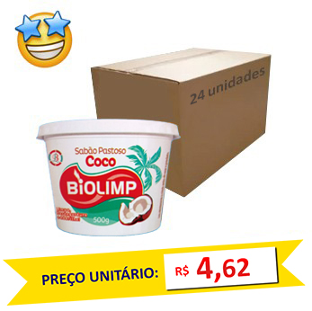 Sabão Pastoso Côco SuperPro 500g (Caixa c/ 24)