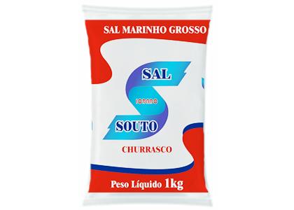 Sal grosso churrasco Souto 1kg (fardo c/30)