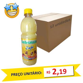 Suco Concentrado Cajú Imbamara 500ml (Caixa c/ 12)