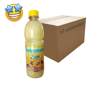Suco Concentrado Caju Imbamara 500ml (Caixa c/ 12)