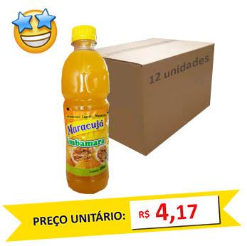 Suco Concentrado Maracujá Imbamara 500ml (Caixa c/ 24)