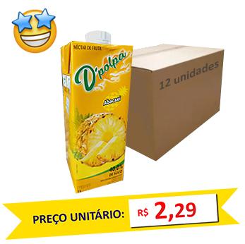 Suco de Abacaxi D´Poupa 1l (Caixa c/ 12)