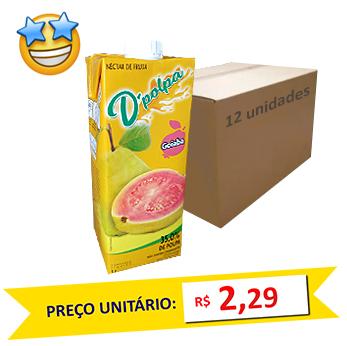 Suco de Goiaba D´Poupa 1l (Caixa c/ 12)