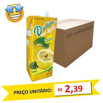 Suco de Maracujá D´Polpa 1l (Caixa c/ 12)