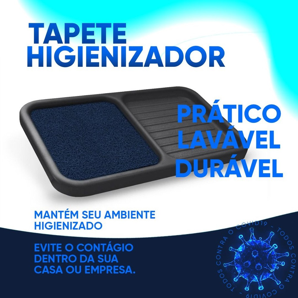 Tapete Sanitizante Higienizador Antivírus 3 em 1 Limpa, Desinfeta e Enxuga  - Grupo Borges Atacadista