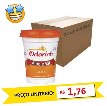 Tempero Alho e Sal Oderich 300g (Caixa c/ 24)