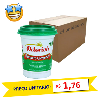 Tempero Completo Oderich 300g (Caixa c/ 24)