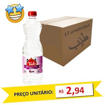 Vinagre de Álcool c/ Alho Taíb 750ml (Caixa c/ 12)  - Grupo Borges Atacadista