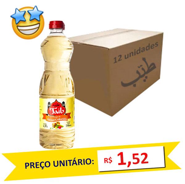 Vinagre de Álcool Colorido Taíb 750ml (Caixa c/ 12)