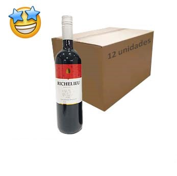 Vinho Tinto Suave Richelieu 750ml (Caixa c/ 12)