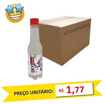 Vodka Oky Ice 300ml 5.5 vol (Pack c/ 12)  - Grupo Borges Atacadista