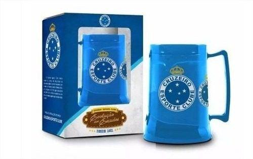 Caneca Gel 450ml Cruzeiro Time Evolução Escudos Presente Brasfoot