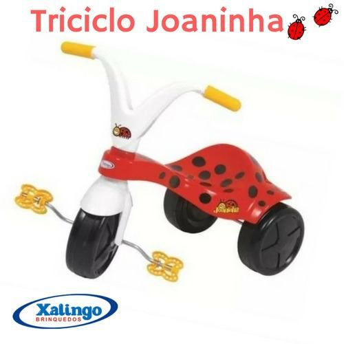 Triciclo Velotrol Joaninha Infantil Meninas Xalingo Vermelho