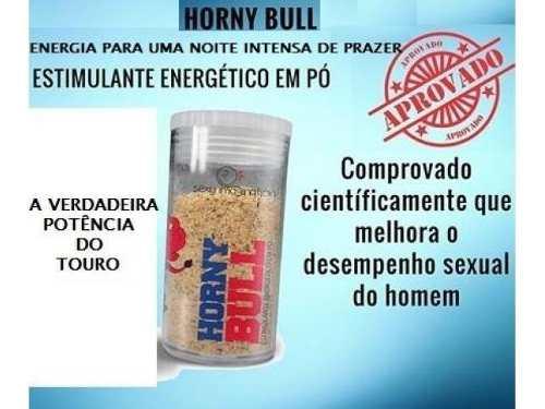 Kit 10unid em pó Tesão De Touro Horny Bull Energético Afrodisíaco 10g Sexy Fantasy