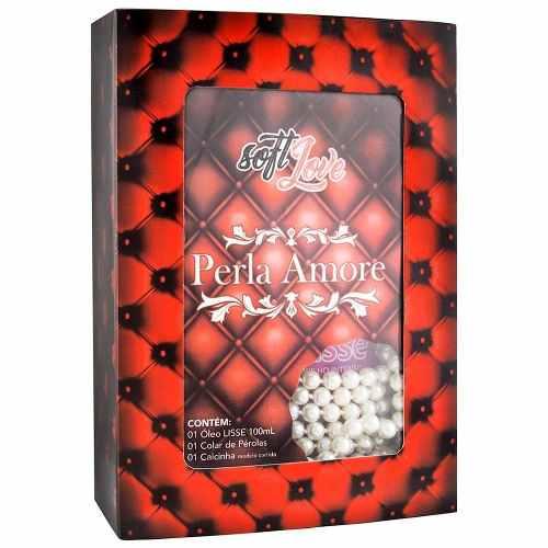 Kit Perla Amore Pérolas + Óleo Corporal Massagem Soft Love