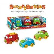 Mini Frota 3 Carrinhos Smart Babies 12cm Divplast