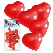 20 Balões Do Amor Formato de Coração Vermelho Art Latex
