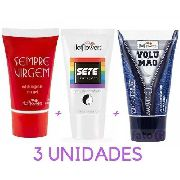 Kit Gel Sete Sensações + Gel Sempre Virgem + Gel Volumão 25g Hot Flowers