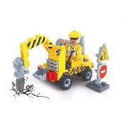 Blocos Tipo Lego Britadeira 70 Peças Click It Play Cis