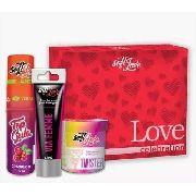 Kit 3 Itens Love Excitante Feminino + Bolinha + Gel Comestível Soft Love