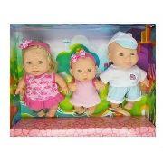 Bonecas Família 3 Irmãos Bee Baby Bee Toys
