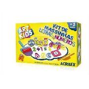 Massa P/ Modelar Criativa Art Kids Letras E Números 55 moldes Acrilex