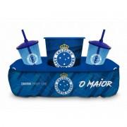 Almofada Porta Pipoca Copos Cruzeiro Presente Brasfoot