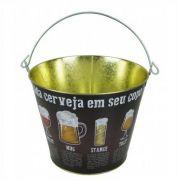 Balde Para Gelo Cada Cerveja no Seu Copo Metal Brasfoot