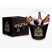 Balde Para Gelo Cerveja Metal Atlético Mineiro Galo Presente Brasfoot