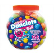 Big Chicle Danclets Ball Pote  com 125 unidades de Bola de Chicletes Danilla