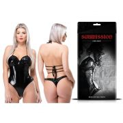 Body Sensual Vinil Preto Linha Submission Sexy Fantasy
