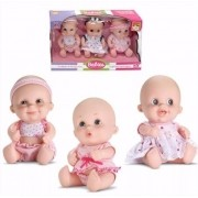Bonecas Babies Expressões Trigêmeas Em Vinil Bee Toys