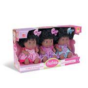 Boneca Babies Expressões Trigêmeas Negra