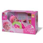 Boneca Infantil Vinil Bee Dreams 42cm Fala Frases - Bee Toys