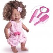 Boneca Negra Ki Ternura Fashion Kit Fala Com Você Nova Toys