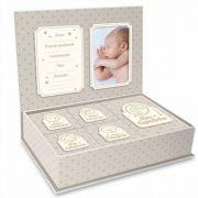 Caixa Porta Lembrança Bebê - Meus Pequenos Tesouros Neutro Brasfoot