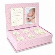Caixa Porta Lembrança Bebê - Meus Pequenos Tesouros Rosa Brasfoot
