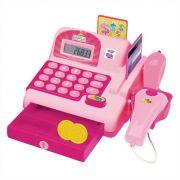 Caixa Registradora Infantil Rosa Hora das Compras C/ Som e Luz Dm Toys