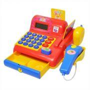 Caixa Registradora Infantil Vermelha Hora das Compras C/ Som e Luz Dm Toys