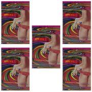 Calcinha Comestível Neon Petit Cherry Sabores Kit 5 unidade Caminhos do Amor