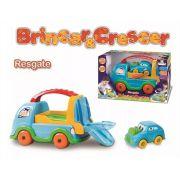Caminhão Resgate com Carrinho Interativo Primeira Idade Brincar E Crescer Divplast