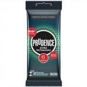Camisinha Extra Texturizado Preservativo 1 pacote com 6 unid Prudence