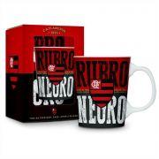 Caneca Porcelana Flamengo Rubro Negro Presente Brasfoot