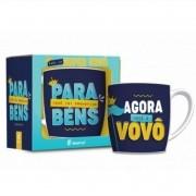 Caneca Porcelana Urban 360ml na caixa - Promovido a Vovô Brasfoot