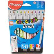 Caneta Hidrocor Color Peps Brush 10 Cores Maped