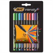 Caneta hidrográfica Intensity Point 0.4mm Utra Fina 10 Cores Bic