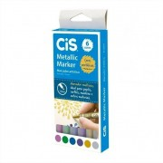 Caneta Marcador Artístico Metallic Marker 6 Cores Cis